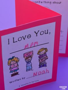 Mother's Day?! Send your kids home with a Pop-Up Card they assembled and wrote themselves!