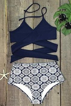 f914a6c29d Cupshe Point Me at the Sky Cross Bikini Set Swimsuits For Teens