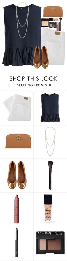 """""""Untitled #296"""" by mg72303 ❤ liked on Polyvore featuring Paige Denim, Elizabeth and James, Tory Burch, Miss Selfridge, Sephora Collection, tarte and NARS Cosmetics"""