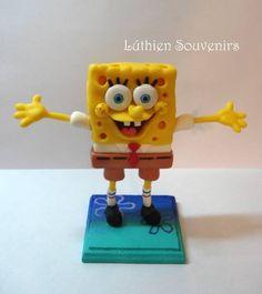 Lucía Bertinat. Lúthien Souvenirs https://www.facebook.com/Luthiensouvenirsarg  / Bob Esponja / Cold Porcelain / Porcelana Fría / Nickelodeon / Cakes / Decoracion de tortas/ Sponge Bob