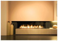 Trisore 140 Beautiful three sided contemporary gas fireplace