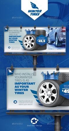 Automobile Tire Billboard Templates  — PSD Template #engine #tire • Download ➝ https://graphicriver.net/item/automobile-tire-billboard-templates/18293403?ref=pxcr