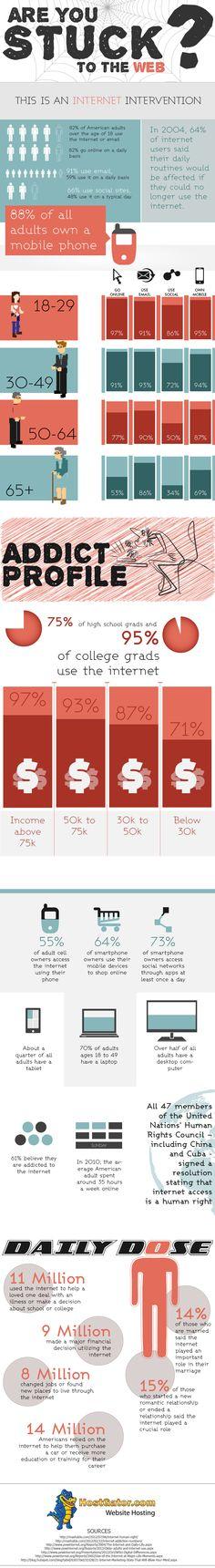 ¿Atrapado en la Web? #infografia #infographic #internet