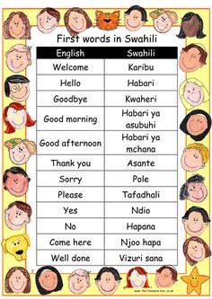 A selection of basic words and phrases to help you make children with a Swahili speaking heritage feel welcome in your class, and/or to support topic work ...