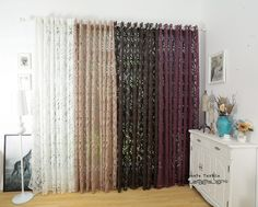 Multiple colors ready made semi blackout curtains blind panel fabrics for window purple curtains-in Curtains from Home & Garden on Aliexpress.com | Alibaba Group
