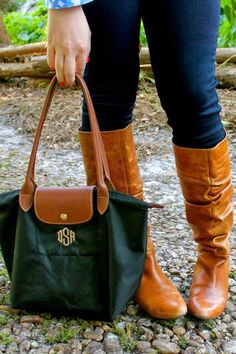 Devon Alana Design: Monogram Longchamp Bag & Boots