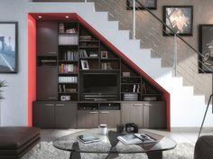 #salon #bibliothèque #rangement #escalier