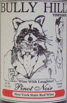 Bully Hill Pinot Noir Finger Lake New York Usa 2008 wine prices.