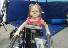 Madison in new stander, Wheelchairs for Kids