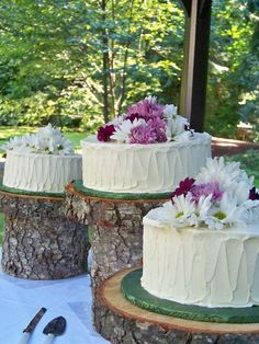 Natural and Rustic ways to add a decor to your wedding cake.