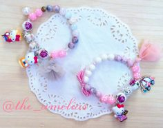 Pink Hello Kitty bracelet with tensha beads SGD 22.90 each ( free local postage Singapore) For oversea shipping please send message for quote)
