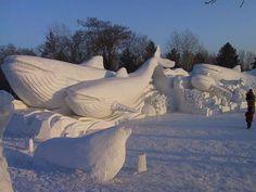 All nature in the world from kaku: Amazing Art of Snow Sculpture - Snow Sculpture, Harbin Winter Wonder, Winter Fun, Winter Snow, Snow Sculptures, Sculpture Art, Metal Sculptures, Abstract Sculpture, Bronze Sculpture, Wassily Kandinsky