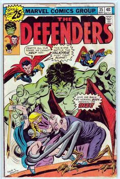 Defenders #35 June, 1976 Gil Kane Cover Art. Sal Buscema Pencils. In Russia, the Red Guardian stops a mugging but narrowly evades capture by the police. Returning home she receives a phone call from Dr. Strange asking if her she could come in her civilian identity of Tania Belinskaya to preform a peculiar brain surgery operation.