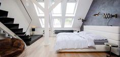 Dormitorio en el ático, ideas cool - http://www.decoora.com/dormitorio-en-el-atico-ideas-cool/