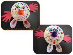 Bricolage enfants pour le Carnaval. Clowns au gros nez !!!!
