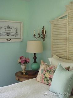 Shutters for the guest room are such a great idea.
