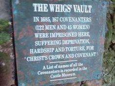 The Whig's Vault, Dunnottar Castle