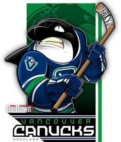 I grew up a Vancouver Canucks fan, okay? That said, I hate the bloody orca logo with all of my might. If Eric Poole does another, please let it be Johnny Canuck. More of his work at http://epoole88.tumblr.com
