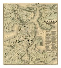 Boston, Massachusetts, c.1884 Art by Tilly Haynes - AllPosters.ca