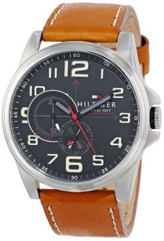 Tommy Hilfiger Men's 1791004 Stainless Steel Watch with Tan Leather Band Tommy Hilfiger http://www.amazon.com/dp/B00G56M1LE/ref=cm_sw_r_pi_dp_TFkEvb03RN9QV
