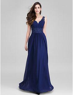 ts couture® vestido de noite formal Bainha / coluna querida chiffon até o chão…