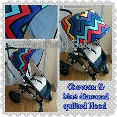 Sew pretty baby chevron fabric - bugaboo Cameleon hood
