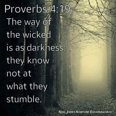 Proverbs 4:19 KJV Holy Bible King James, Bible King James Version, King James Bible Verses, Psalm 16, Proverbs 4, Bless The Lord, Magic Words, Old Soul, Lord And Savior
