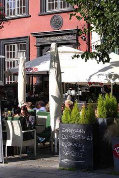 Sidewalk cafe in Gdansk, Poland.  photo by Morgan Thomas