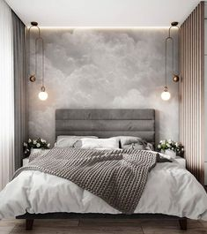 Modern Bedroom Inspirations Beds Ideas For 2020 Gray Bedroom, Home Decor Bedroom, Master Bedroom, Bedroom Modern, Contemporary Bedroom Decor, White Bedroom Decor, Modern Minimalist Bedroom, Master Suite, Budget Bedroom