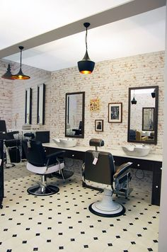 Barber shop by Ayala salon furniture. Barber chairs Stig and bespoke units. Barber shop by Ayala salon furniture. Barber chairs Stig and bespoke units. Barber Shop Interior, Barber Shop Decor, Hair Salon Interior, Home Salon, Spa Design, Design Salon, Salon Interior Design, Cafe Design, Bakery Design