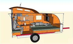 Trailer Trends – The Towing Guide Diy Camper Trailer, Build A Camper, Tiny Camper, Small Campers, Trailer Build, Micro Campers, Rv Campers, Carros Off Road, Teardrop Trailer Plans