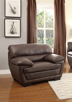 Chair Adrian Collection 8588Brw-1 $234  Finish: Dark Brown P/U  Dimensions:  46.5 x 35.5 x 36H