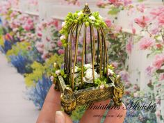 1:12 scale // Dollhouse Garden Charm Collection  Flowers In The by Minicler, €14.00