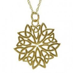 Very different Celtic necklace. Seems both modern and classic! Celtic Snowflake Necklace