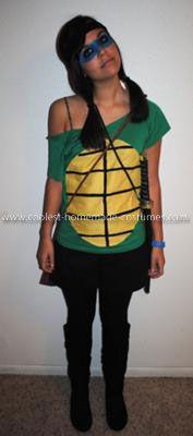 Homemade Teenage Mutant Ninja Turtles Group Costume: Materials for this Homemade Teenage Mutant Ninja Turtles Group Costume: *t-shirts over sized green *yellow, brown and black fabric *fabric glue *face paint