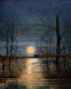See Justyna Kopania related art work. Find beautiful Original Art , Canvas Transfers and Art Reproductions of contemporary masters. Watercolor Landscape, Landscape Art, Landscape Paintings, Oil Paintings, Moonlight Painting, Canvas Art, Canvas Prints, Beautiful Moon, Oeuvre D'art