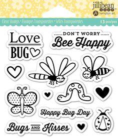 Jillibean Soup - Shaker Clear Acrylic Stamps - Love Bug