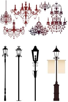 gorgeous chandelier lights silhouette
