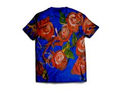 Flowers by Tmima Wakschlag. Unisex cotton t-shirt. You can find this and more awesome art at wearelions.org! Each purchase funds autism acceptance and awareness! #wearelions #roarloud