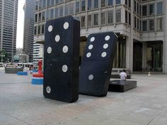 I believe these are the largest dominos. They are scattered around a plaza found in front of the municipal Services Building at the west side of Broad between Arch and JFK. Pennsylvania History, Monthly Themes, Interactive Art, Public Art, Public Spaces, Yarn Bombing, Roadside Attractions, Sidewalk Chalk, Outdoor Sculpture