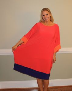 Before Picture of Refashioning The Red and Purple Thrift Store Dress.  Watch the video to see the finished refashion.