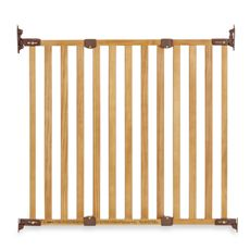 KidCo Angle Mount Wood Safeway® Gate   Oak