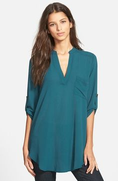 Lush 'Perfect' Roll Tab Sleeve Tunic Under 30.00!!! This is a STEAL