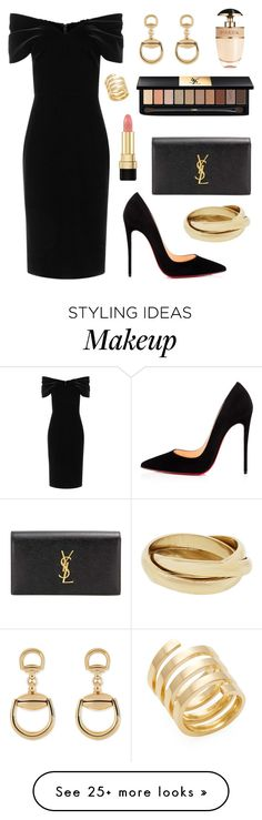 """High Rollers"" by tasha-m-e on Polyvore featuring Yves Saint Laurent, Emilio De La Morena, Christian Louboutin, Gucci, Dolce&Gabbana, Prada and Jennifer Zeuner"