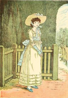 Kate Greenaway 1910 from The Marigold Garden. #authors, #illustrators, #kategreenaway