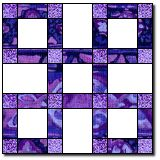 10-inch stripe and square block.