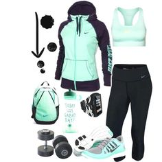 """""""Workout Mint"""" by ke  """"Workout Mint"""" by ke  """"Workout Mint"""" by kerimcd on Polyvore...For when I """"work out""""...lol"""