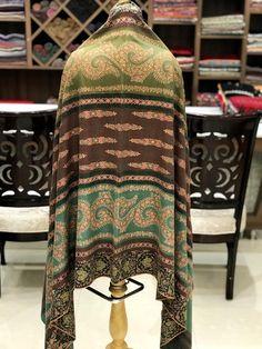 Papier Mache Hand Embroidered Pure Pashmina Shawl, Pure Cashmere Shawl,  Shawl, Hand Embroidery, Embroidered, Kashmir Work, Pashmina Wrap 7aa374c1e78