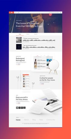 Design concept for SoundCloud introducing written content.The main purpose was to get a clean, clear website that is easy to navigate and with a lot of attention to the small details. This meant — among other things — updating the basic identity with fr… Web Design Examples, Web Design Projects, Web Ui Design, Branding Design, Creative Web Design, Site Design, Website Layout, Web Layout, Ui Web