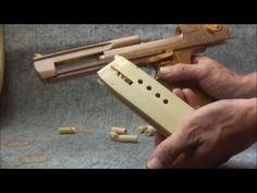 Blow Back Rubber Band Gun 04.2 I.W.I Desert Eagle ejection is added - YouTube
